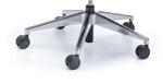 Fotel Biurowy obrotowy MAXPRO WS - różne tapicerki - aluminium polerowane (efekt chrom)