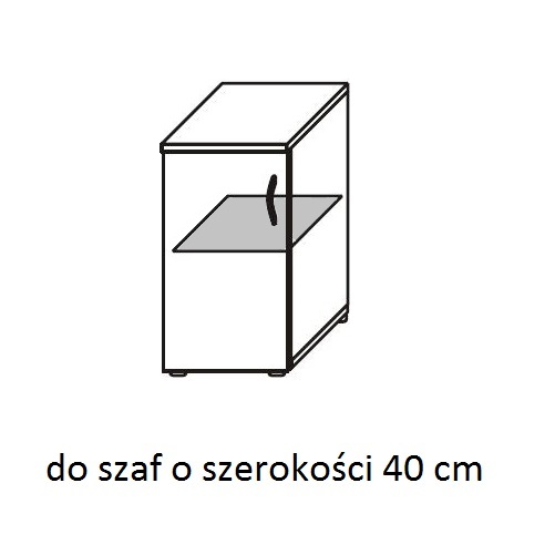 Szafa biurowa aktowa PS08W 40X39X220H - półki metalowe 40