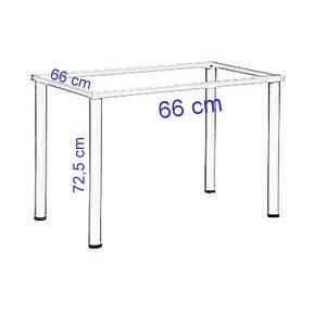 Stelaż do biurka lub stołu - kolor BIAŁY-noga kwadratowa-EF-57/KB - 66x66x72,5h