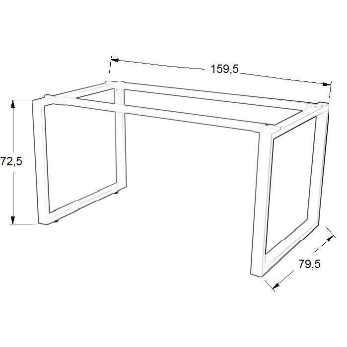 Stelaż skręcany do stołu i biurka EF-WT-131 biały - 159,5x79,5x72,5H