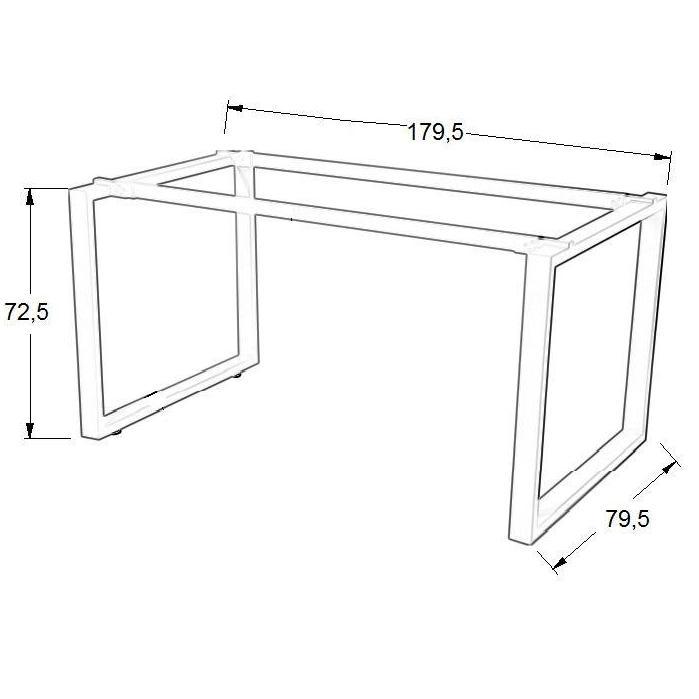 Stelaż skręcany do stołu i biurka EF-WT-131 biały - 179,5x79,5x72,5H