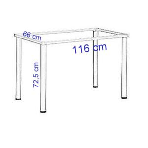 Stelaż do biurka lub stołu - kolor BIAŁY-noga kwadratowa-EF-57/KB - 116x66x72,5h