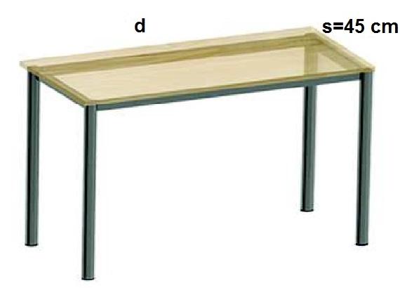Stelaż metalowy do biurka lub stołu  ST-A2 noga okrągła fi 4 długość=45 cm - s=45 cm