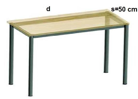 Stelaż metalowy do biurka lub stołu  ST-A2 noga okrągła fi 4 długość=45 cm - s=50 cm