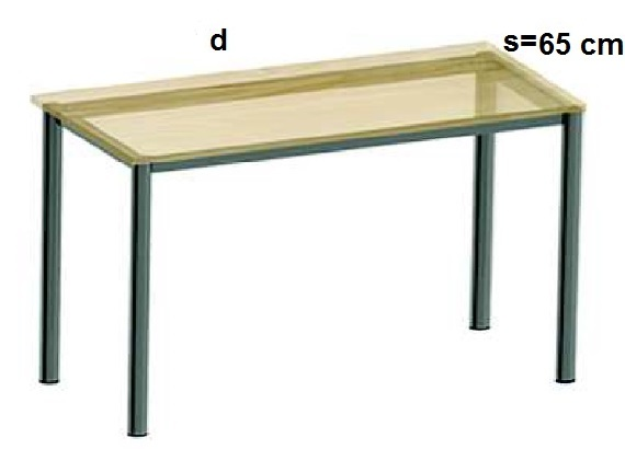 Stelaż metalowy do biurka lub stołu  ST-A2 noga okrągła fi 4 długość=45 cm - s=65 cm