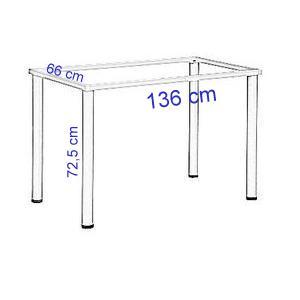Stelaż do biurka lub stołu - kolor BIAŁY-noga kwadratowa-EF-57/KB - 136x66x72,5h