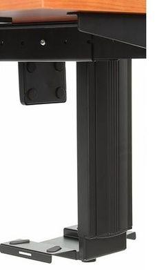 Stelaż elektryczny dwusilnikowy EF-A103-2/T2/B- czarny - Półka podwieszana na komputer
