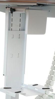 Stelaż elektryczny dwusilnikowy EF-A103-2/T2/W biały - Półka podwieszana na komputer