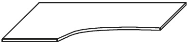 Biurko narożne EVENT BV26 o wym. 160x100/80x76 cm   - Biurko lewe