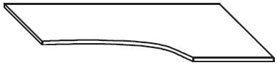 Biurko narożne EVENT BV26 o wym. 160x100/80x76 cm   - Biurko prawe