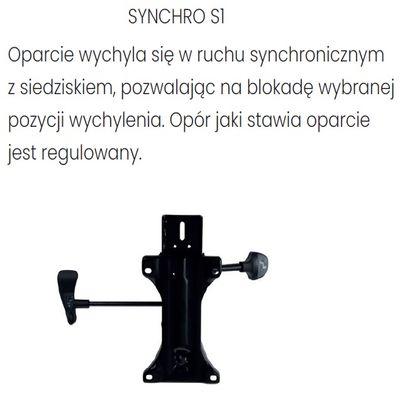 Fotel Biurowy obrotowy ZUMA BLACK - Synchroniczny