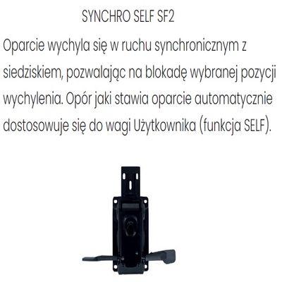 Fotel Biurowy obrotowy ZUMA BLACK - Synchroniczny Self