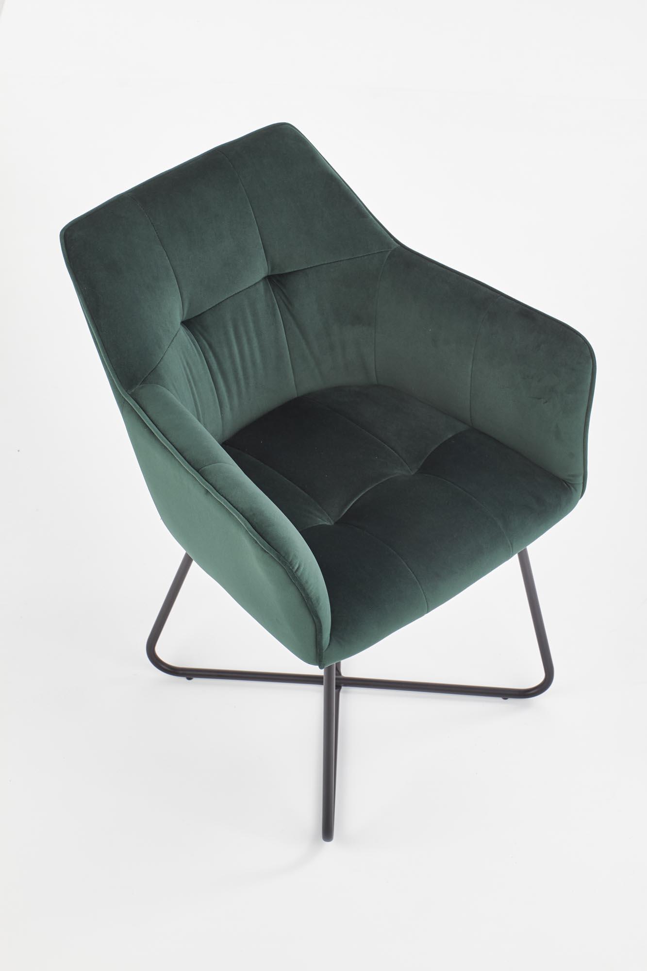 K377 krzesło ciemny zielony