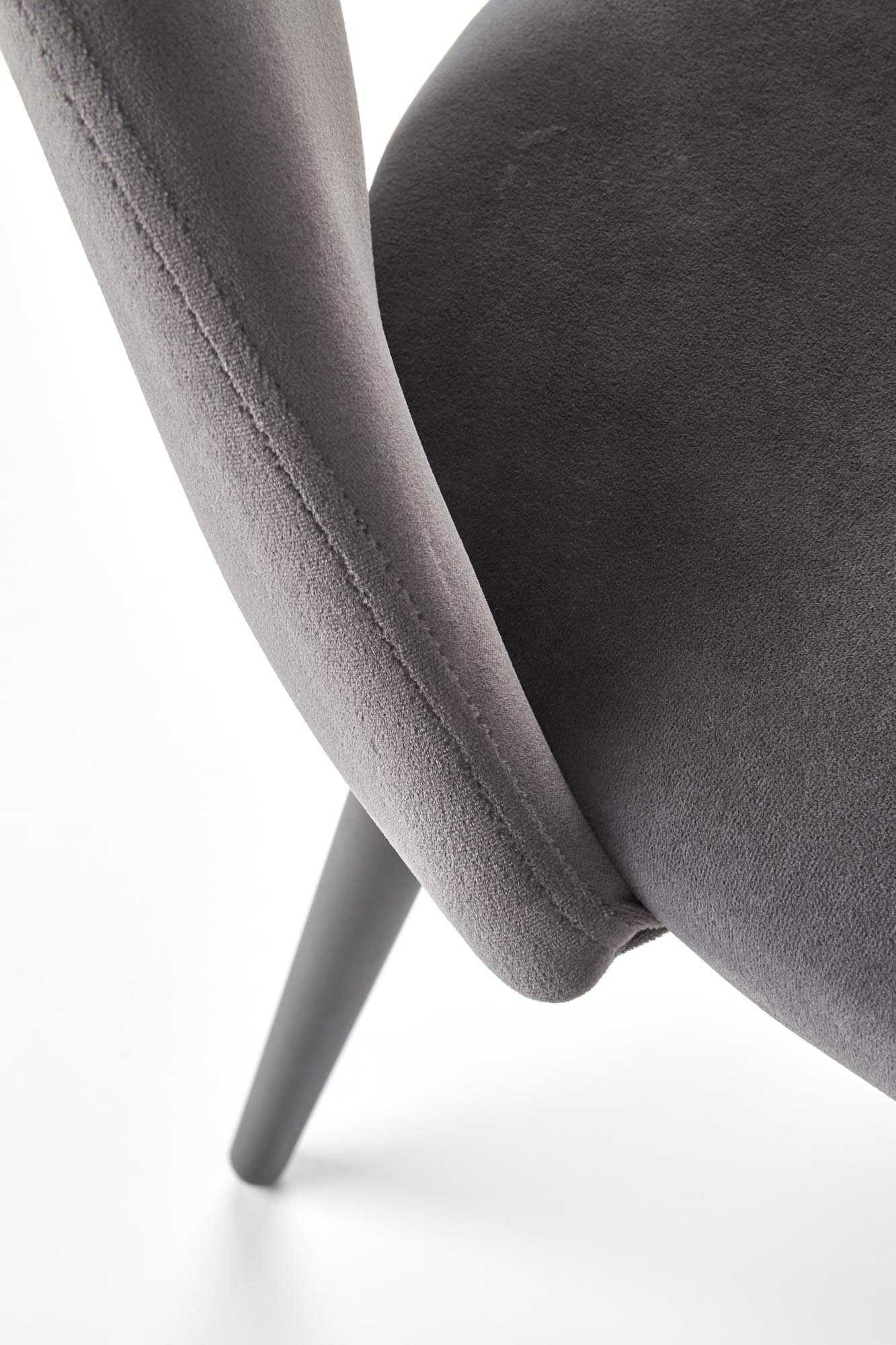 K384 krzesło popielaty / czarny