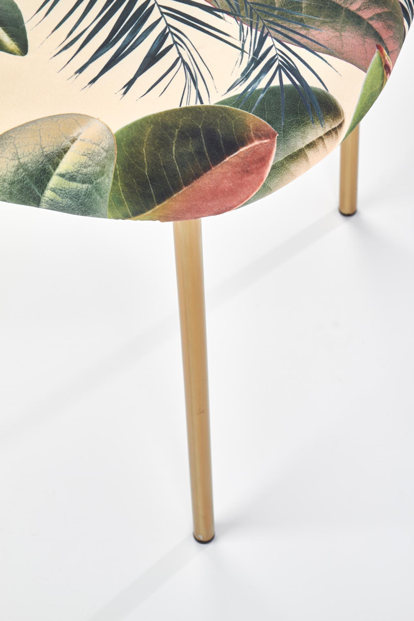 K398 krzesło, tapicerka - wielobarwny, stelaż - złoty