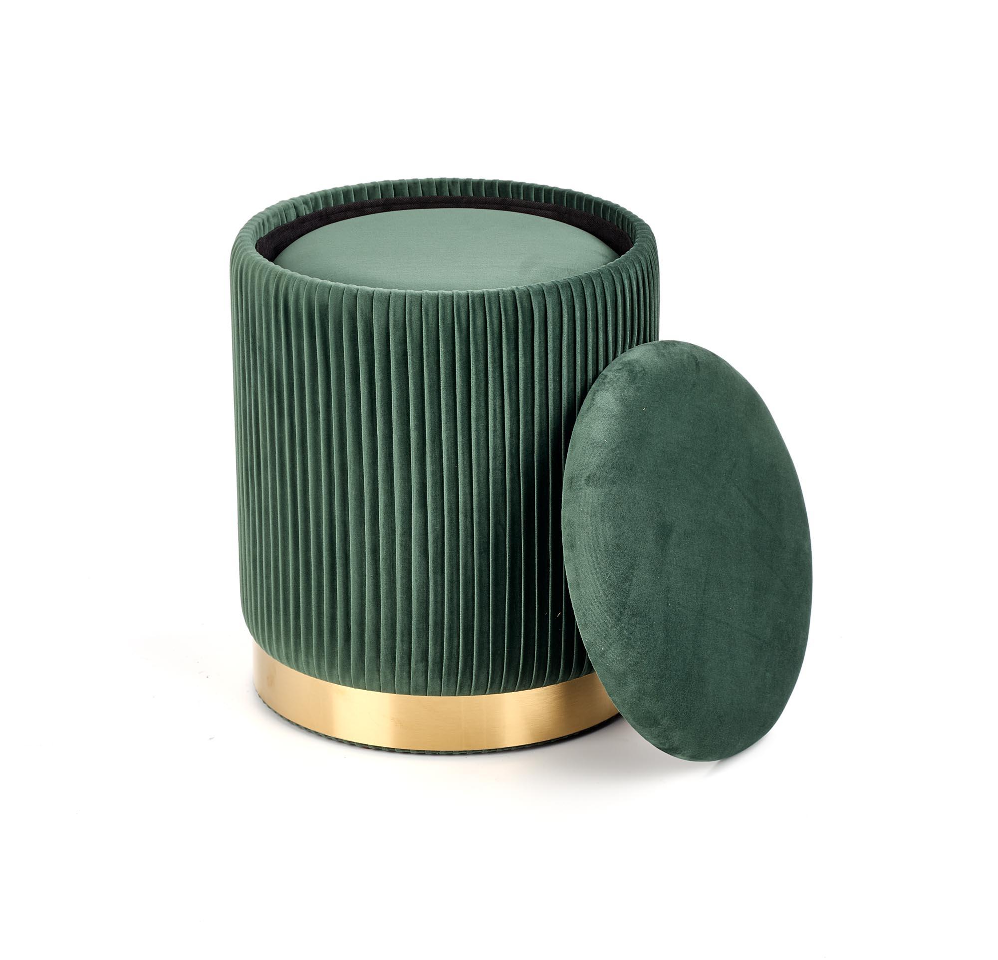 MONTY zestaw 2 puf, ciemny zielony