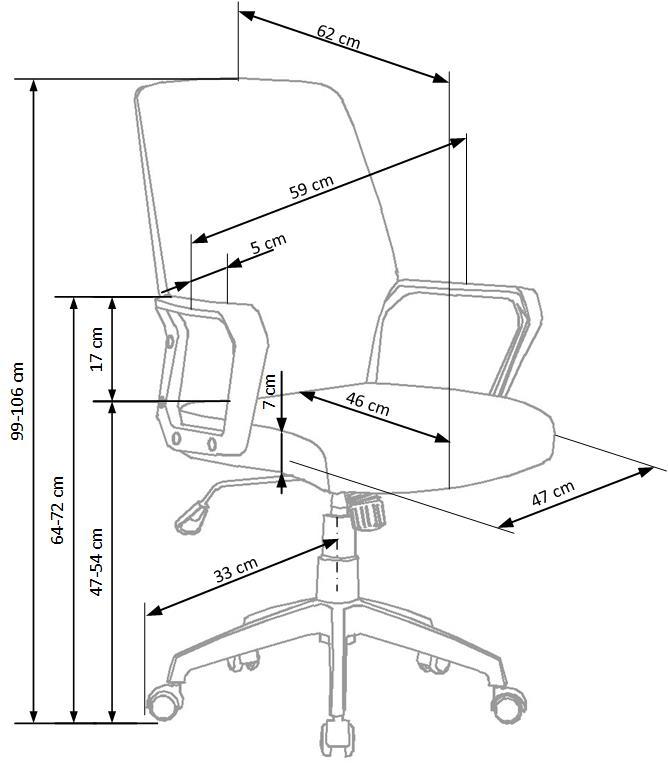 Krzesło obrotowe SPIN 2 beżowy / biały