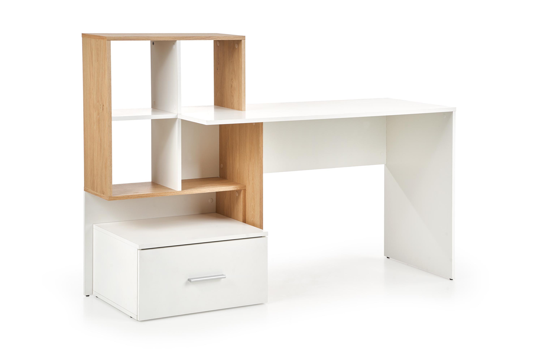 GROSSO biurko dąb złoty / biały (1p=1szt)