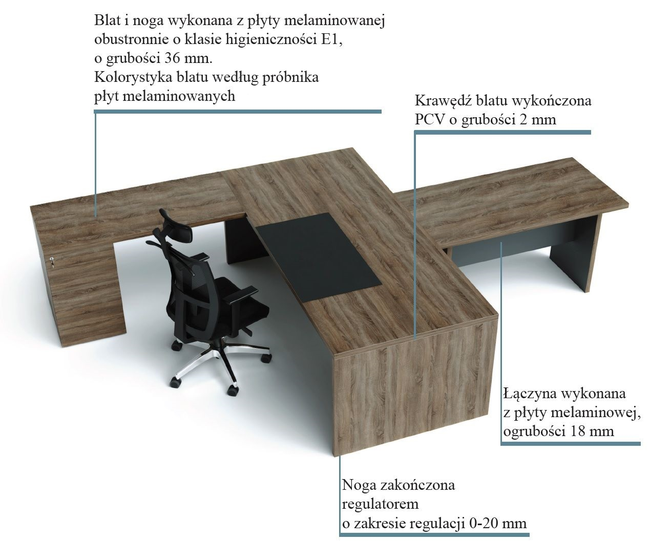 Biurko - dostawka CLASSIC CS5