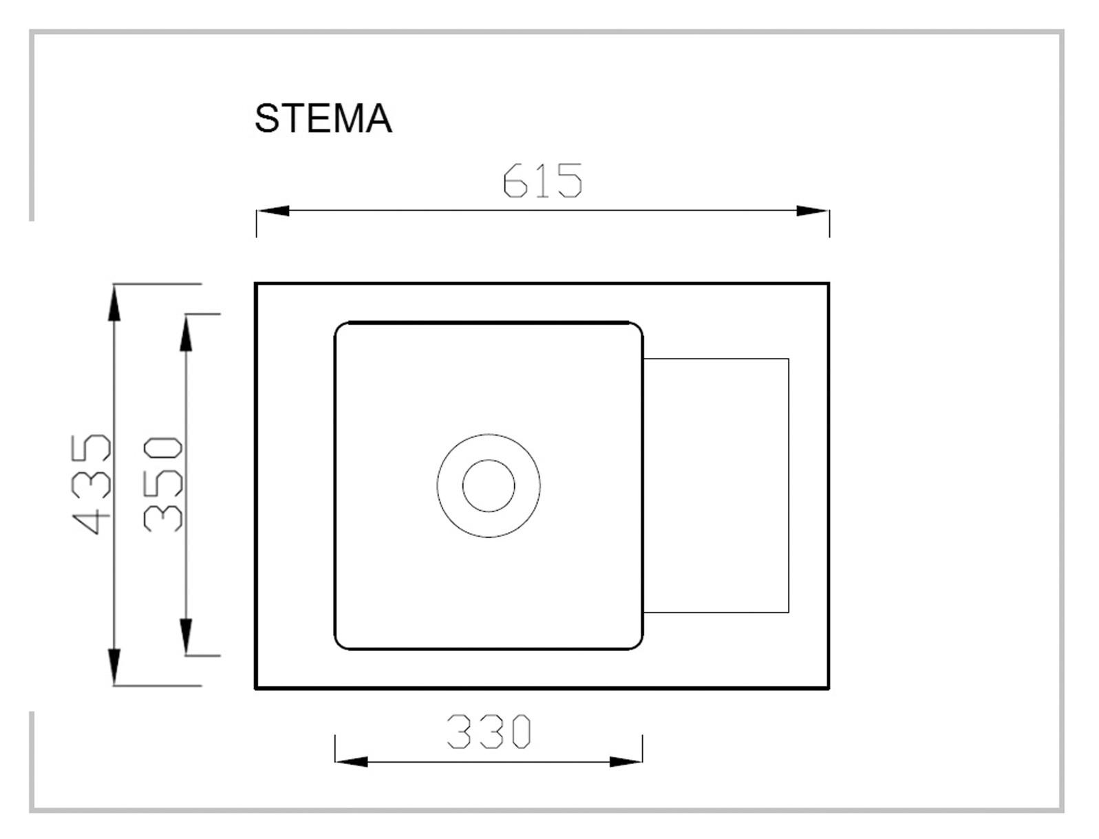 STEMA zlewozmywak granitowy szary (1p=1szt)