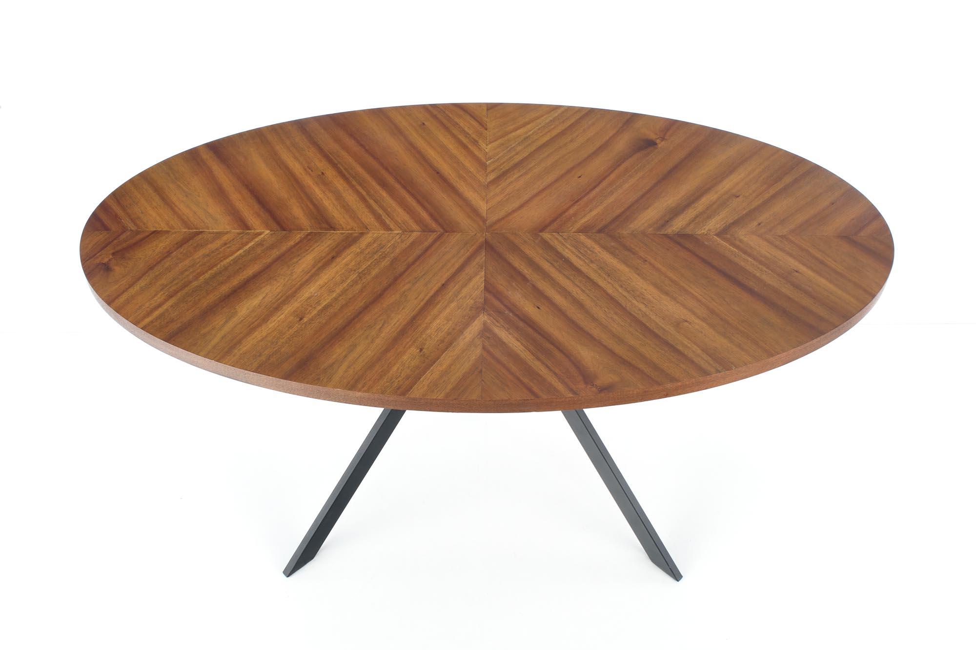 LOCARNO stół, blat - orzechowy, noga - czarny