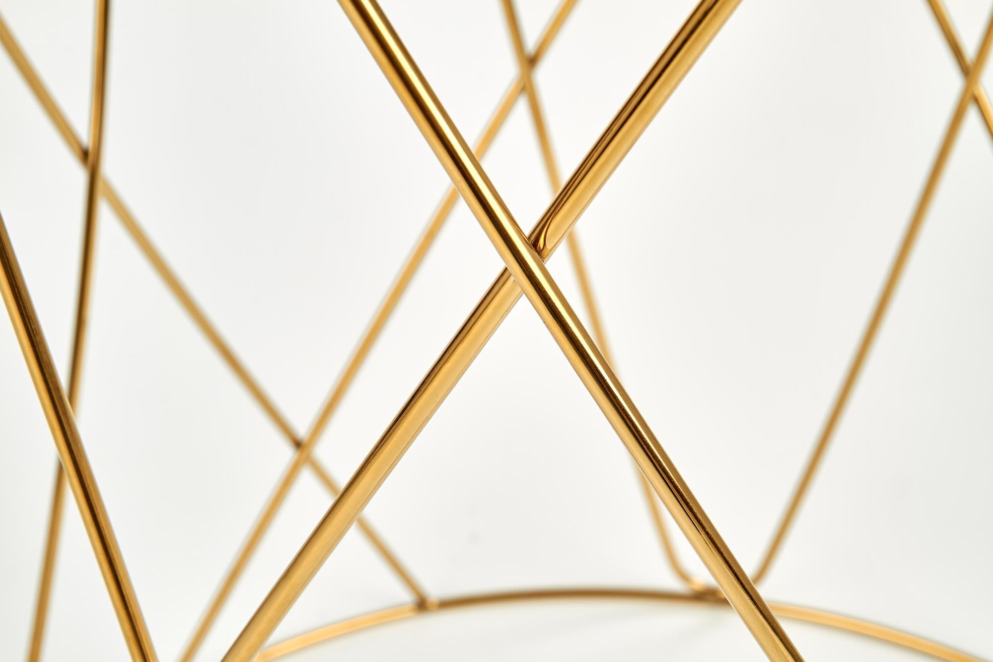 SELENA ława, stelaż - złoty, szkło - dymiony (1p=1szt)