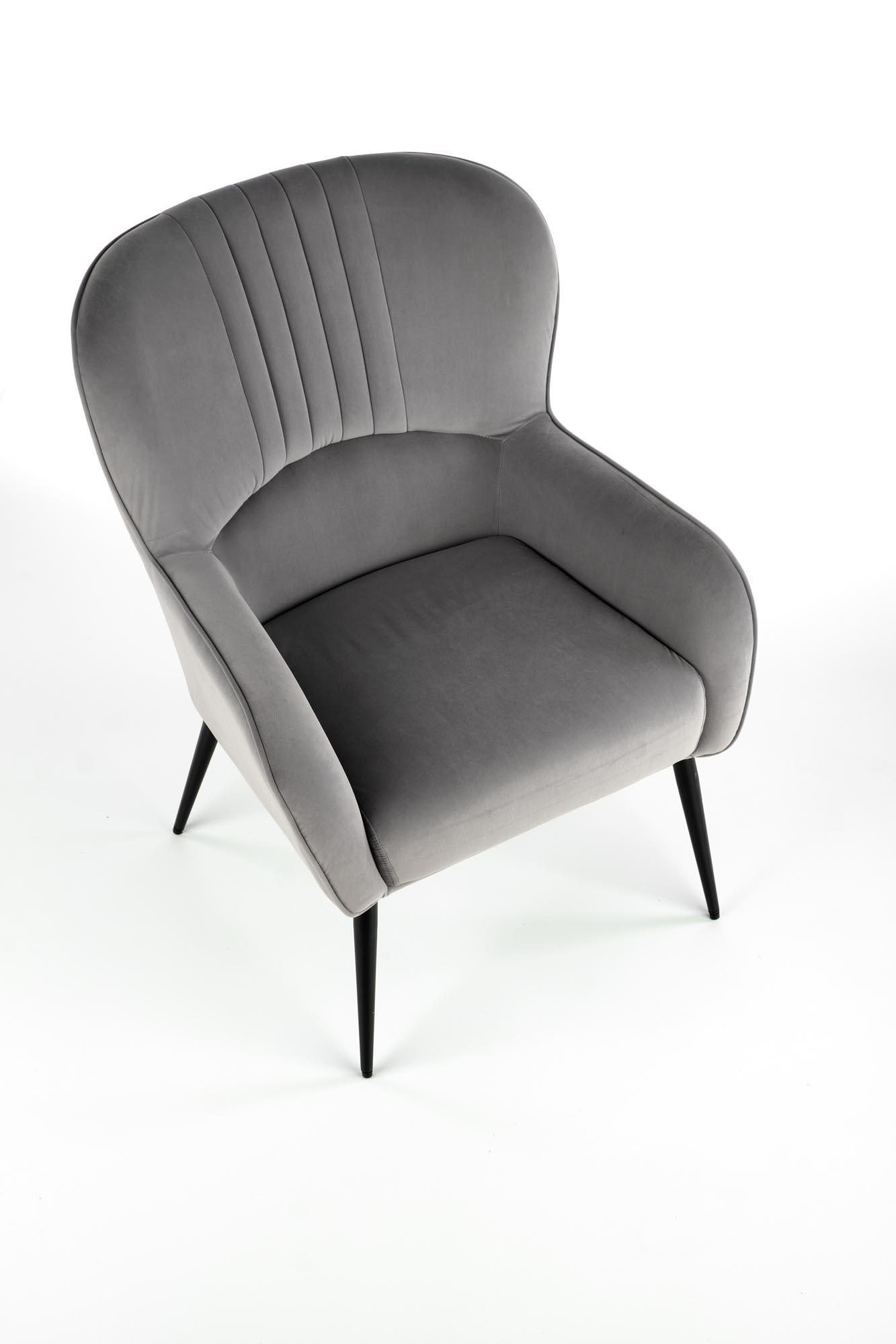 VERDON fotel wypoczynkowy popielaty BLUVEL #14