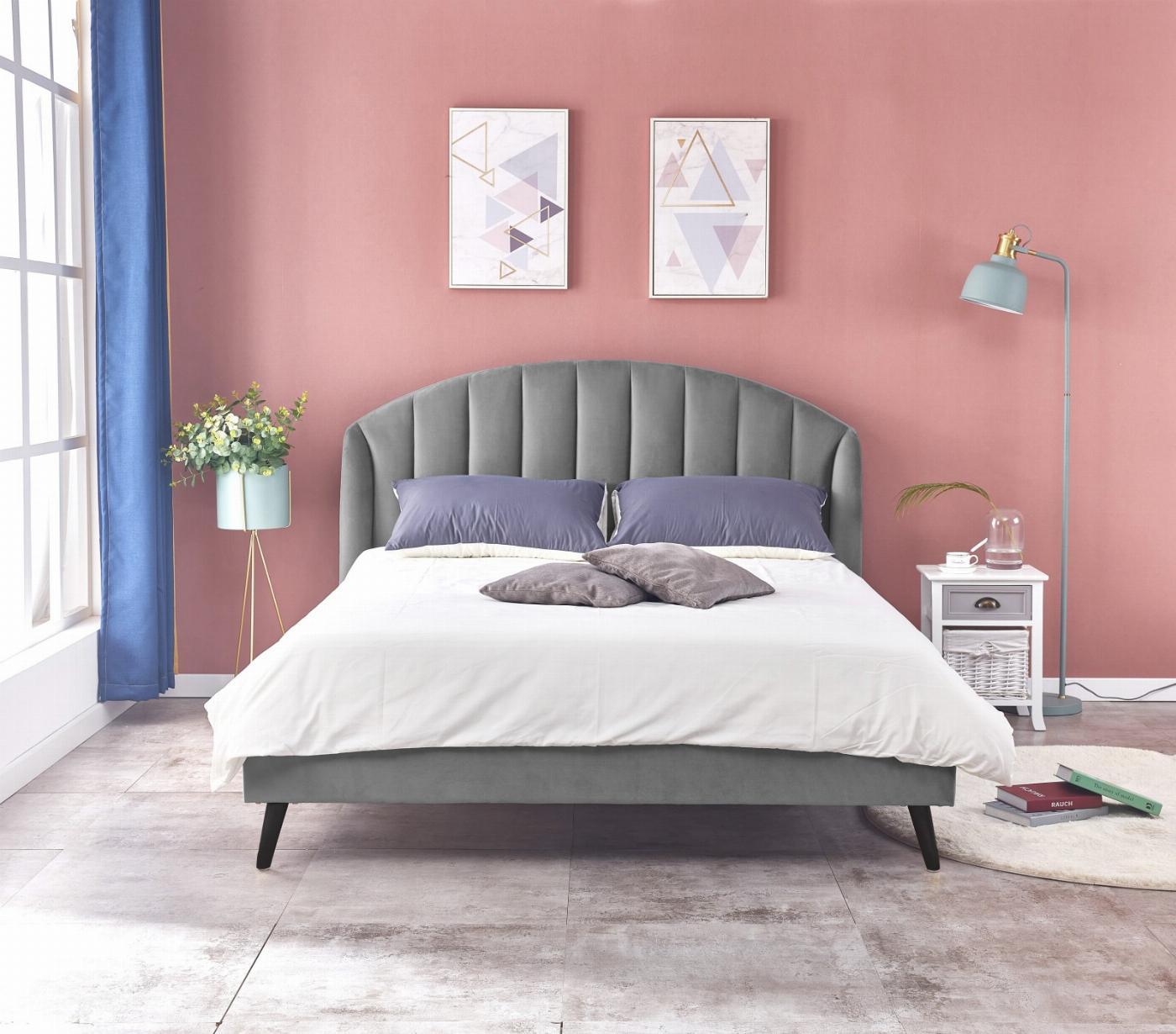 YOVELLA 160 łóżko popielaty