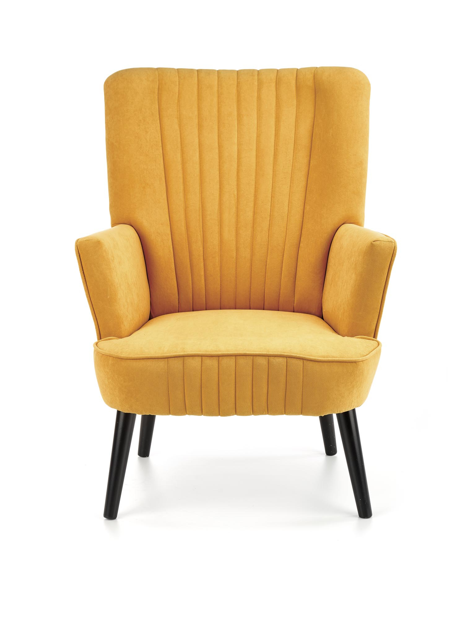 DELGADO fotel wypoczynkowy musztardowy (BLUEVEL #68)