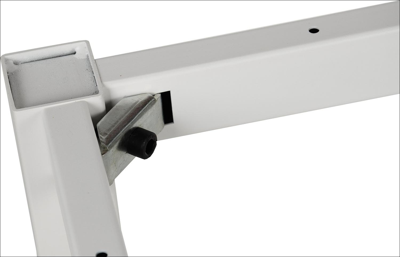 Stelaż do stołu i biurka EF-57/KB nogi kwadratowe 5x5 cm - BIAŁY - 136x66