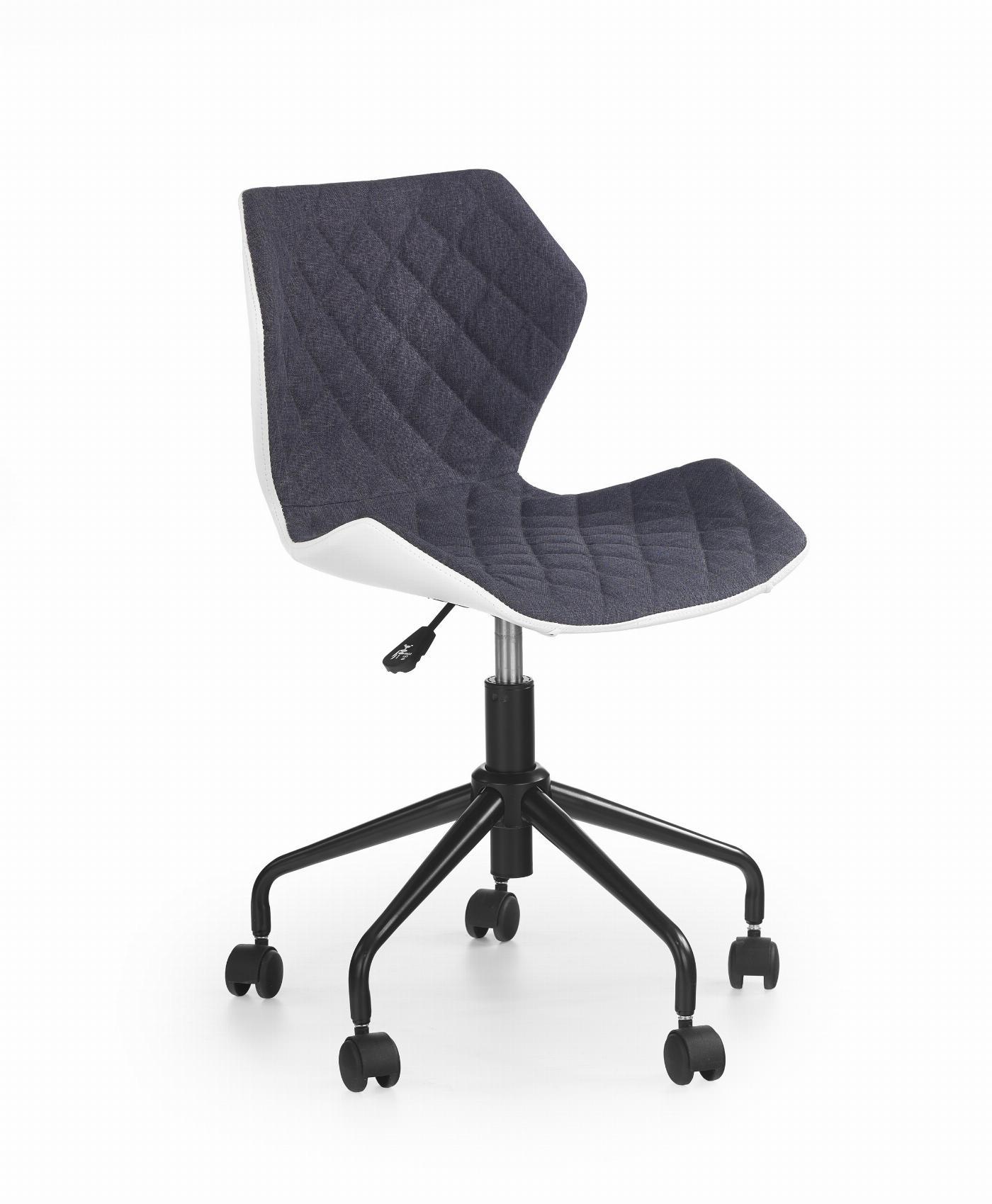 MATRIX fotel młodzieżowy biały / popiel (1p=1szt)