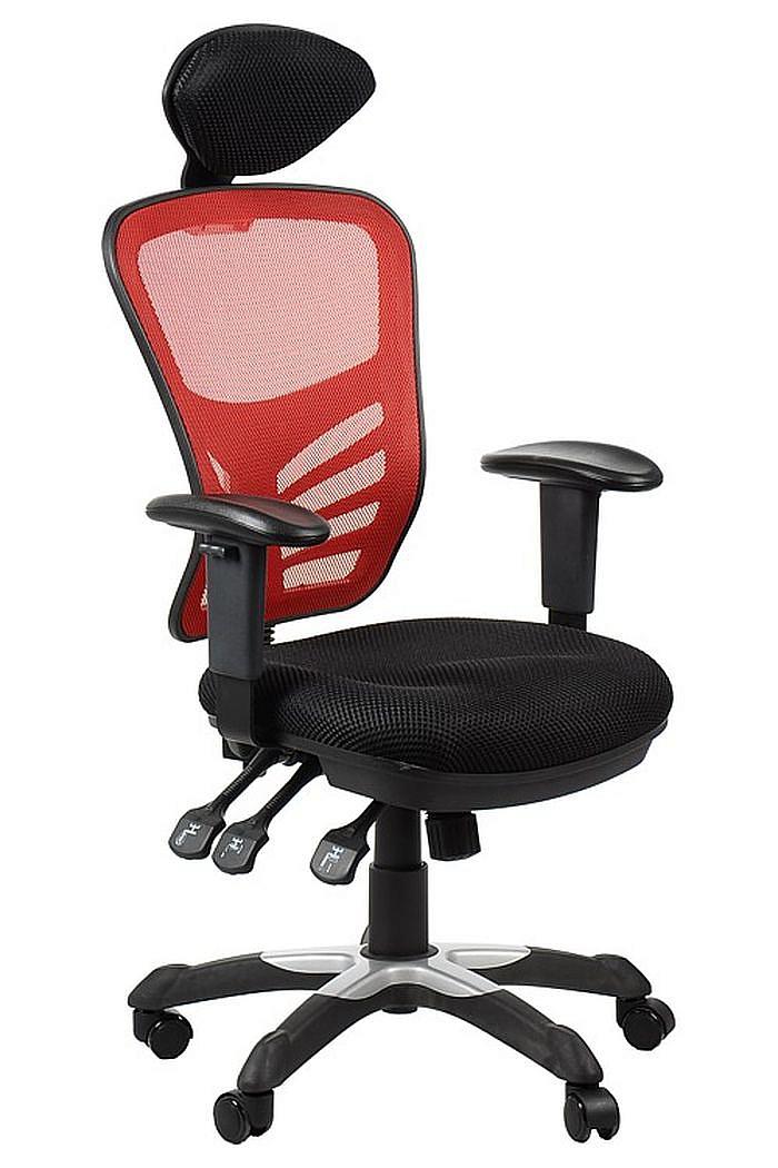 Fotel Biurowy Obrotowy EF-HG0001H czerwony