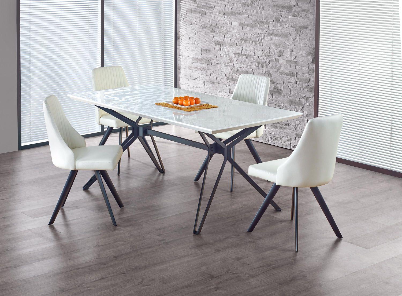 PASCAL stół rozkładany biało-czarny (2p=1szt)