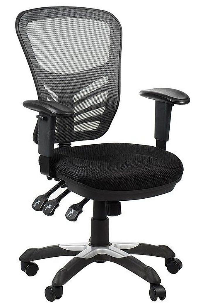 Fotel Biurowy Obrotowy EF-HG0001 szary