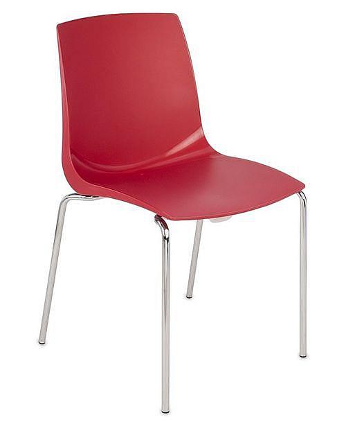 Krzesło konferencyjne ARI kubełek czerwony