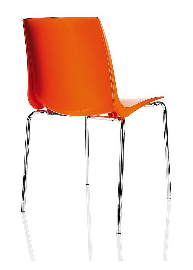 Krzesło konferencyjne ARI kubełek pomarańczowy