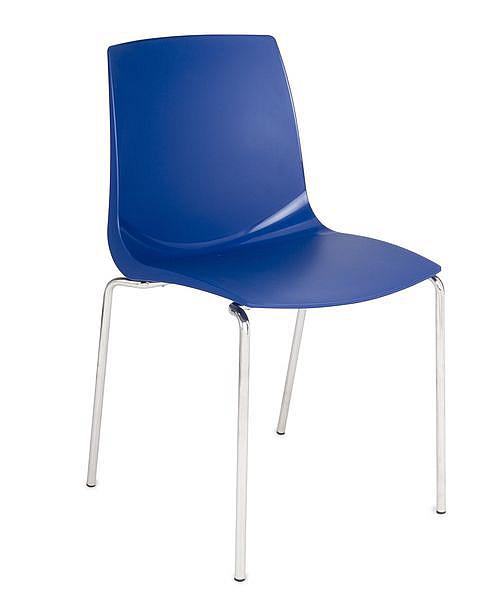 Krzesło konferencyjne ARI kubełek niebieskii
