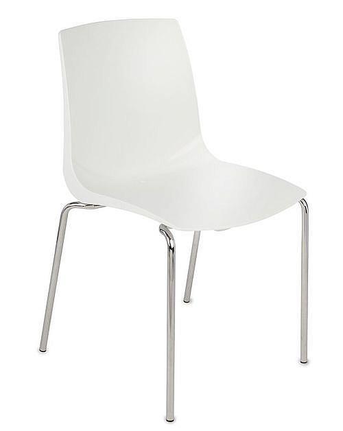 Krzesło konferencyjne ARI kubełek biały