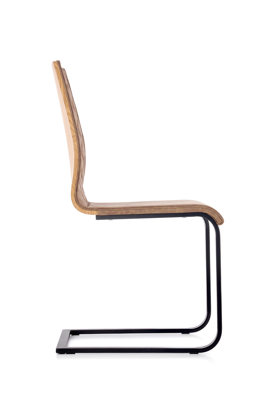 K265 krzesło czarny / brązowy / dąb miodowy (2p=4szt)