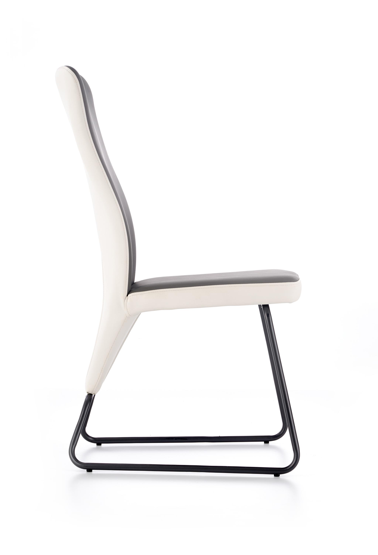 K300 krzesło tył - biały, przód - popiel, stelaż - super grey