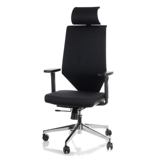 Fotel Biurowy Obrotowy  EF-ZN-805C-30 czarny z wysuwem siedziska