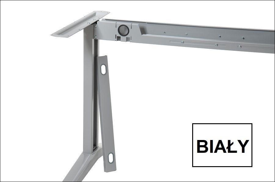 Stelaż metalowy do biurka EF-STL-01 biały- rozsuwana belka