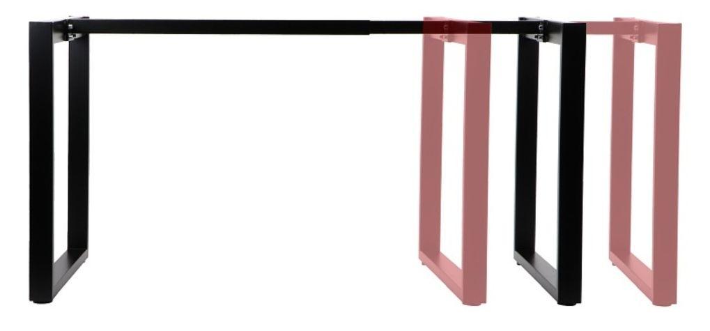 Stelaż skręcany do stołu i biurka EF-NY-131A/80 czarny
