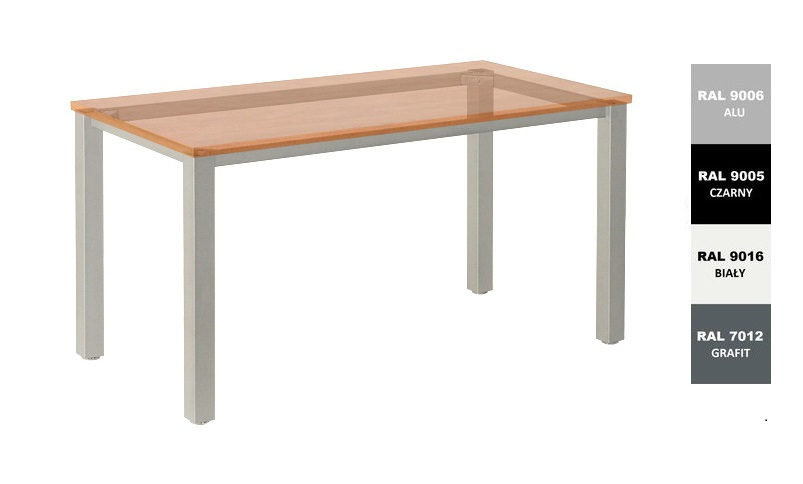 Stelaż metalowy do biurka lub stołu  ST-A noga kwadrat 6x6 głębokość 77 cm, różne długości