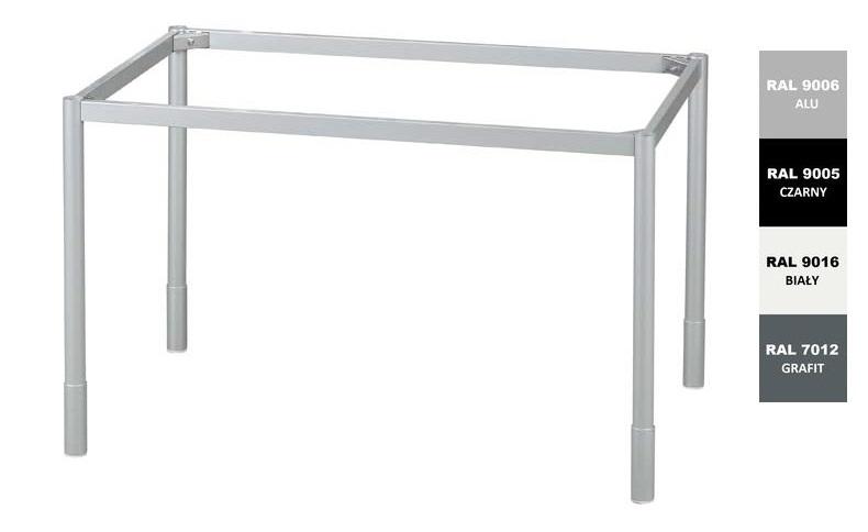 Stelaż metalowy do biurka lub stołu  ST-A2 noga okrągła fi 4 głębokość 77 cm, różne długości