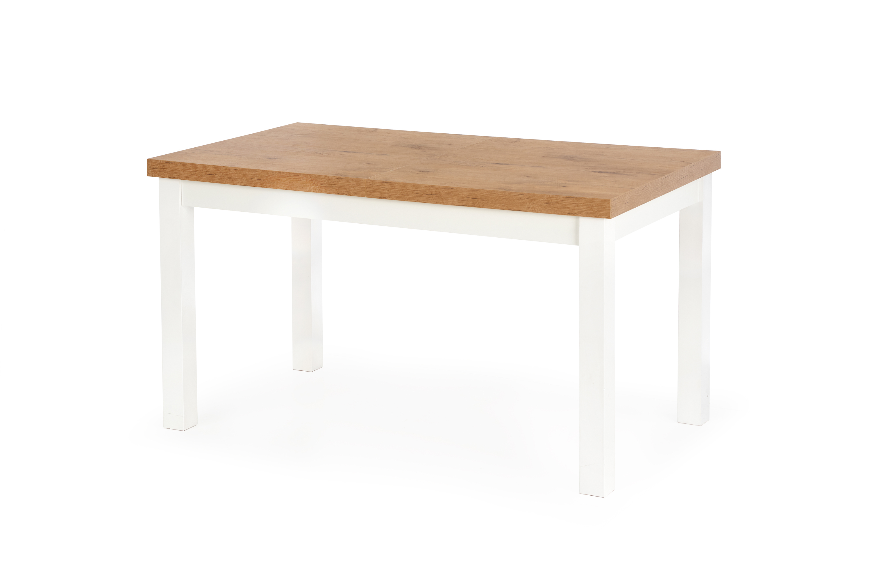 TIAGO stół rozkładany 140-220/80 blat: dąb lancelot, nogi: biały (2p=1szt)