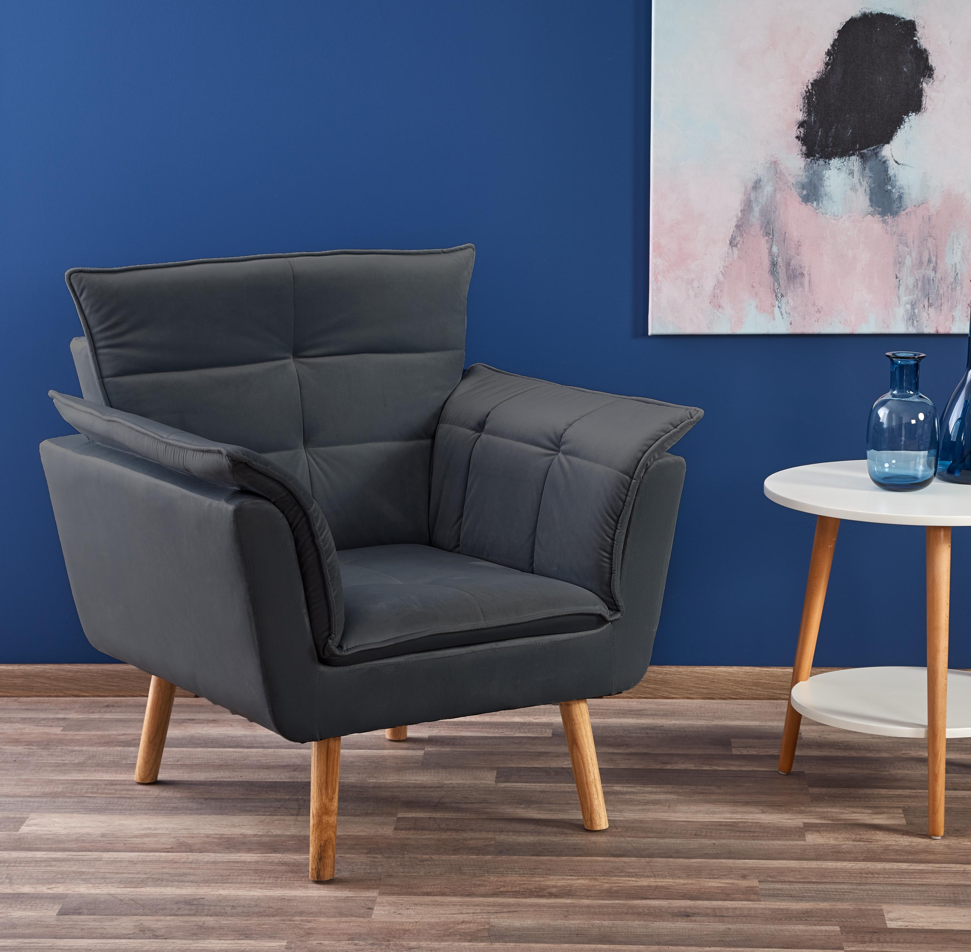 REZZO fotel wypoczynkowy popielaty