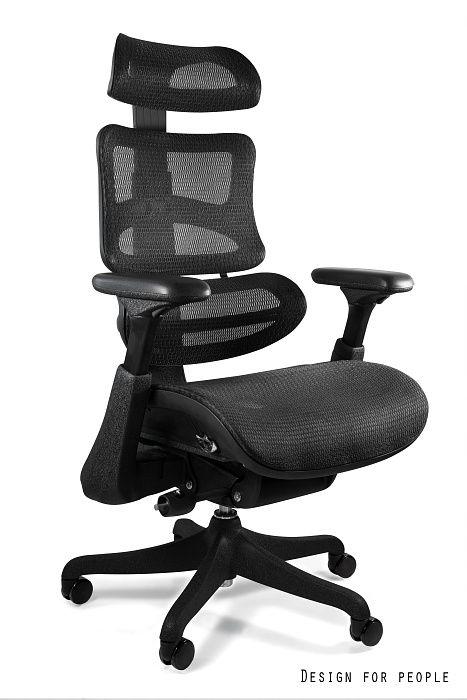 Fotel Obrotowy Ergothrone z podnóżkiem/czarny